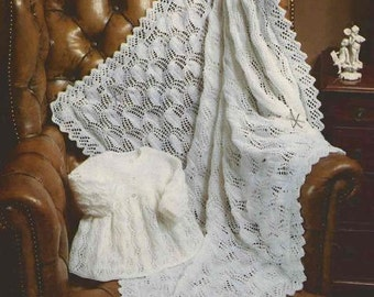 100 PRINTABLE Vintage BABY PATTERNS - Shawls, Blankets and Pram Covers - Crochet & Knitting