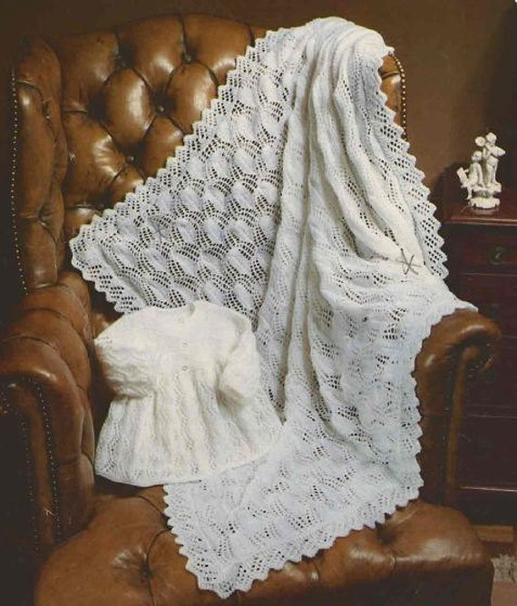 ... Vintage BABY PATTERNS - Shawls, Blankets and Pram Covers - Crochet