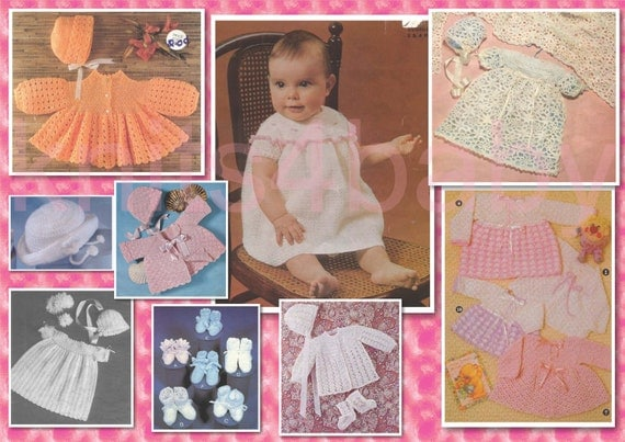 75 plus Adorable BABY CROCHET Patterns - Lovely Garments