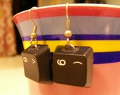 SALE Upcycled Keyboard Earrings with Free Shipping