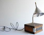 Constant Height. Handcrafted industrial desk lamp