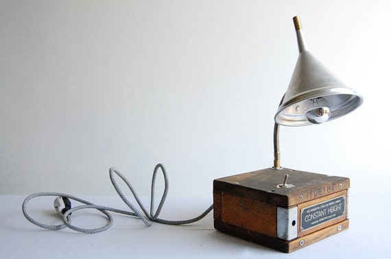 Constant Height. Handcrafted industrial desk lamp
