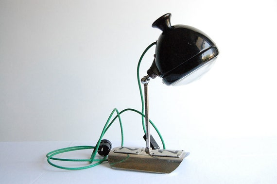 Double two. Handcrafted vintage industrial desk lamp