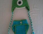 Monster Hat/Diaper Cover Set