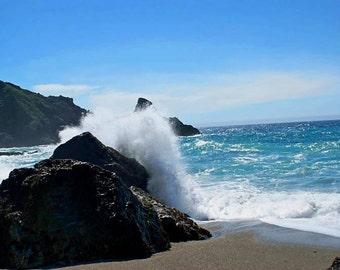 Crashing Waves - Big Sur, California Photo Greeting Card