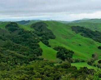 Emerald Hills - Big Sur, California Photo Greeting Card