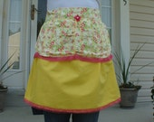 Two-Tiered Yellow and Hot Pink Floral