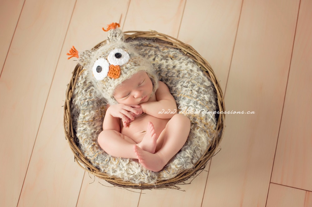 Unique Newborn Boy Photography Owl Hat Newborn Baby P...
