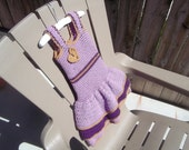 Lavender & Purple Layered Crochet Toddler Dress