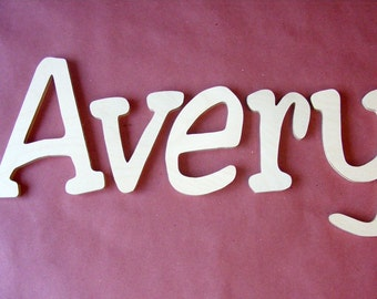 "8"" Wooden Wall Nursery Letters- Unpainted-Unfinished- Nursery Decor- ABC Wall- Wall Hanging"