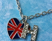 One Direction inspired charm necklace- H for Harry Styles