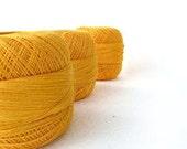 300gr of organic Linen yarn, 2ply linen yarn, linen thread, yellow neon - SuppliesForHandmade