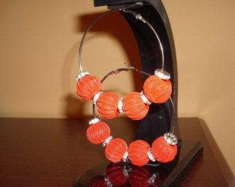 """Red """"PUMPKINS"""" earrings"""