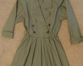 Vintage Green Trench Dress