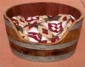 Oak Wine Barrel Pet Bed