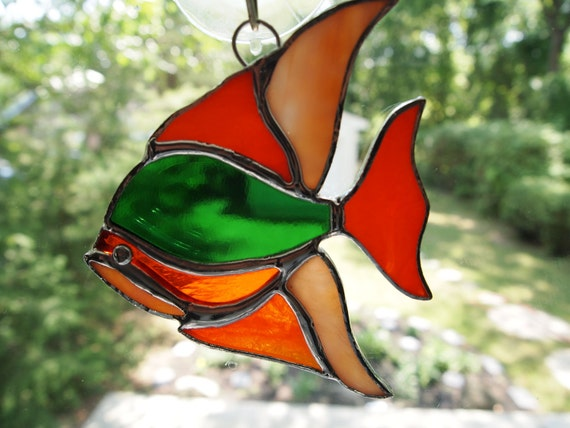 Stained Glass Suncatcher Fish