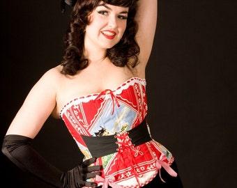 Souvenir of Switzerland overbust corset