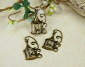 Sweet Antiq's - vintage style filagree antique brass bird cage charm