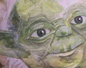 Star Wars inspired Yoda Painting