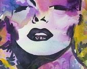 Colorful Marilyn Monroe Painting-Original
