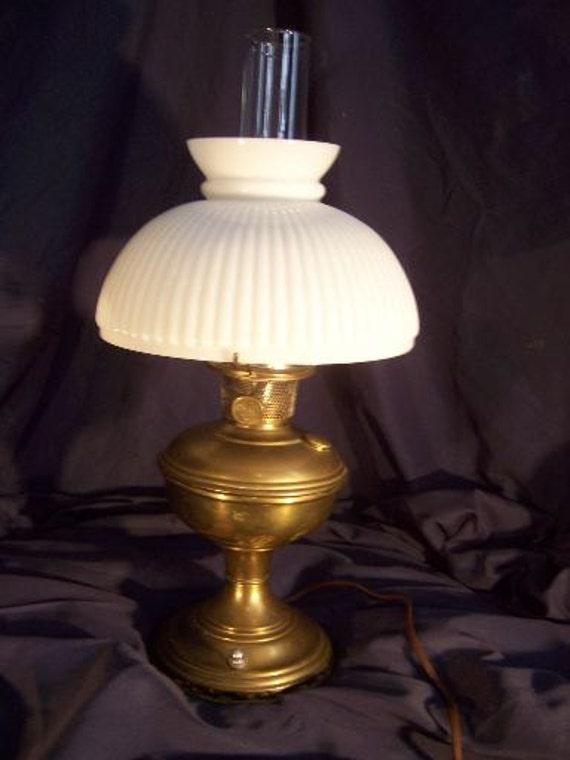 Items similar to VINTAGE Aladdin Brass Electric Hurricane ...