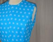 Adorable Vintage Turquoise Summer Dress
