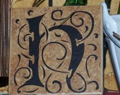 """4x4"""" Personlized Initial tile"""