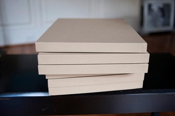 "11x14 Kraft Photo Packaging Boxes - 1"" depth"
