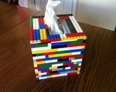 Lego Tissue Box Cover - All Genuine Lego Pieces - BluZoo