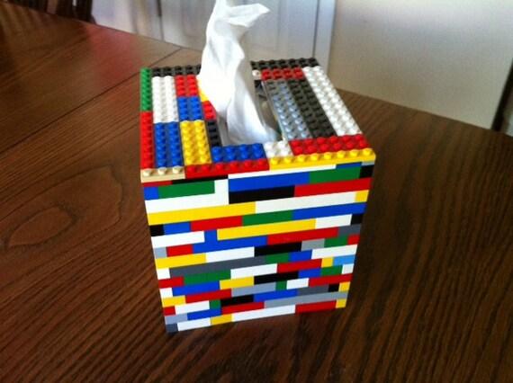Lego Tissue Box Cover - All Genuine Lego Pieces