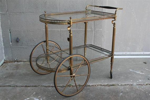 Brass Wine Cart