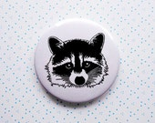 RACCOON 2.25 inches Button Pin
