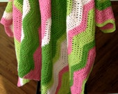 """BabyLove Brand Pink and Green Baby/Toddler Blanket - 40""""x55"""" perfect size for travel Great to Bedroom Set or Baby Shower"""