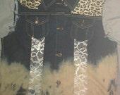 Leopard Jean Vest