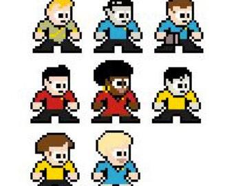 Star Trek The Original Series Cross-Stitch Pattern