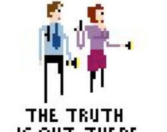 X-Files Cross Stitch Pattern - The Truth is out there