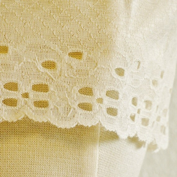 reserved   LACE TRIM Vintage GATHERING Thread Eyelet Cream 1-1/4 yards 3-oz