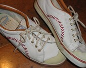Baseball Ball Stitch Leather Sneakers Championship Keds Series - TasteTested