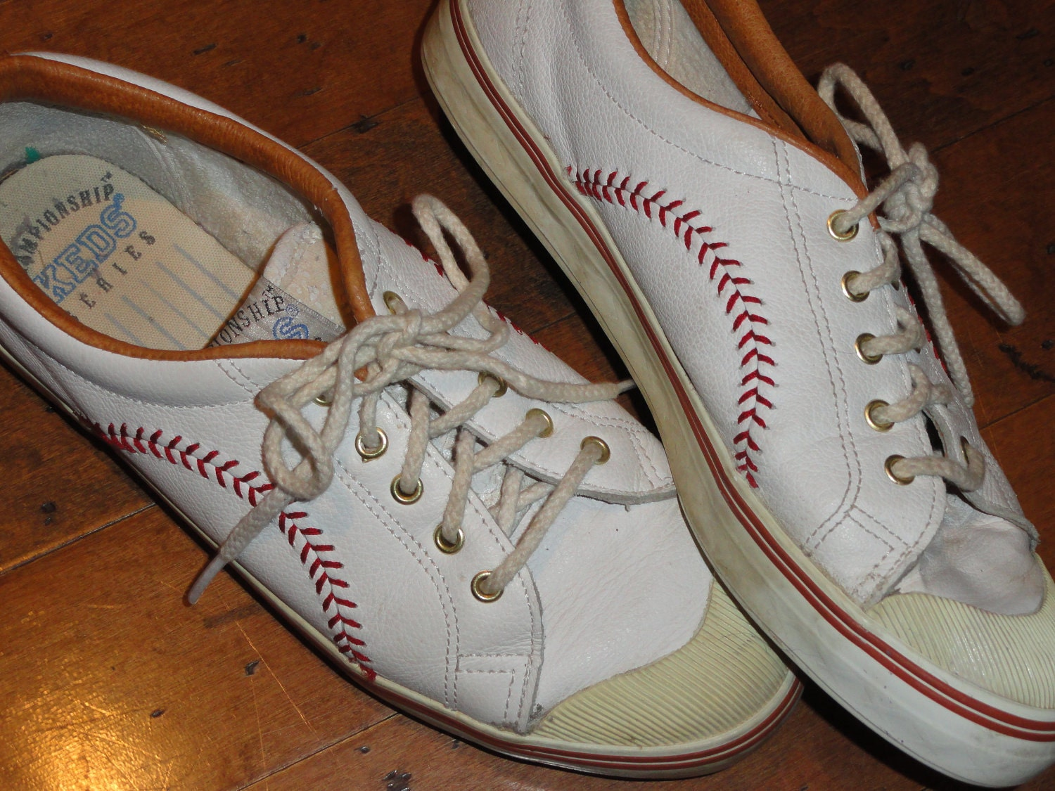Baseball Ball Stitch Leather Sneakers Championship By