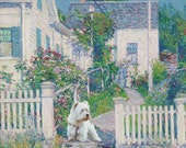 Beautiful canvas, signed print of the West Highland White Terrier, Sir Hamish McTavish 1H