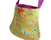"Little girls bag Amy Butler ""Sari Blooms"" fabric lined bag purse"