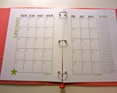 """Monthly Planner Sheets (DIY) - 13 Printable PDFs - Full Size (8.5"""" x 11"""") - Potter Design"""