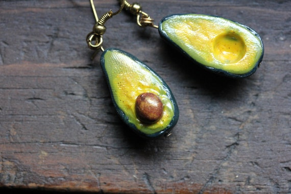 The Avocados: Hand-Made Clay Earrings