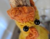 Knit Rubber Chicken Wine Bottle Cozy
