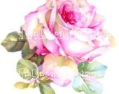 romantic chic HP ROSE DECALS waterslide transfers SHaBBY COTTaGE CHiC pink roses