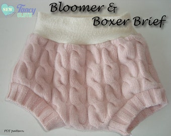 INSTANT DOWNLOAD Bloomers and Boxer Briefs PDF Sewing Pattern by Fancy Cloth
