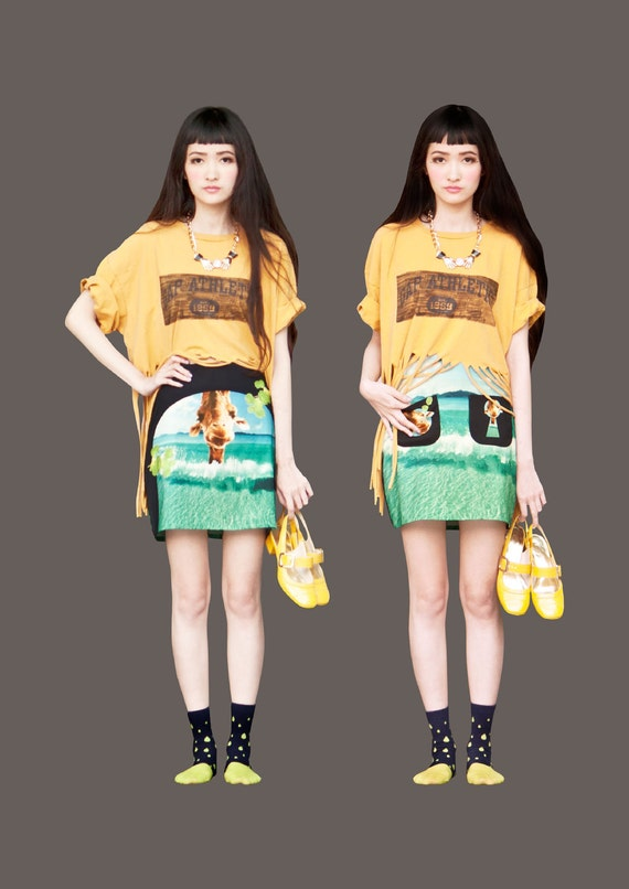 FABITORIA 2012SS digital printed skirt - 02