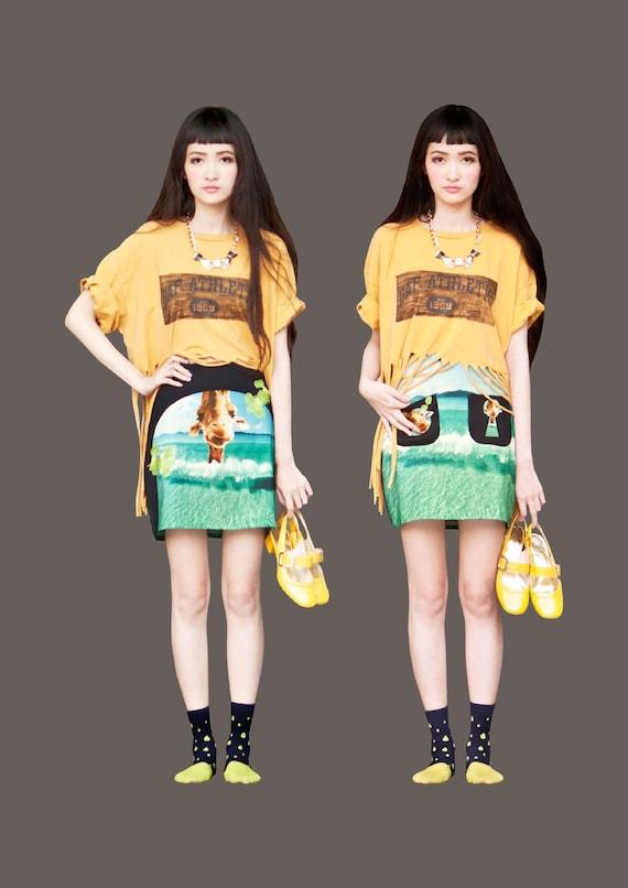 FABITORIA 2012SS digital printed skirt - 02