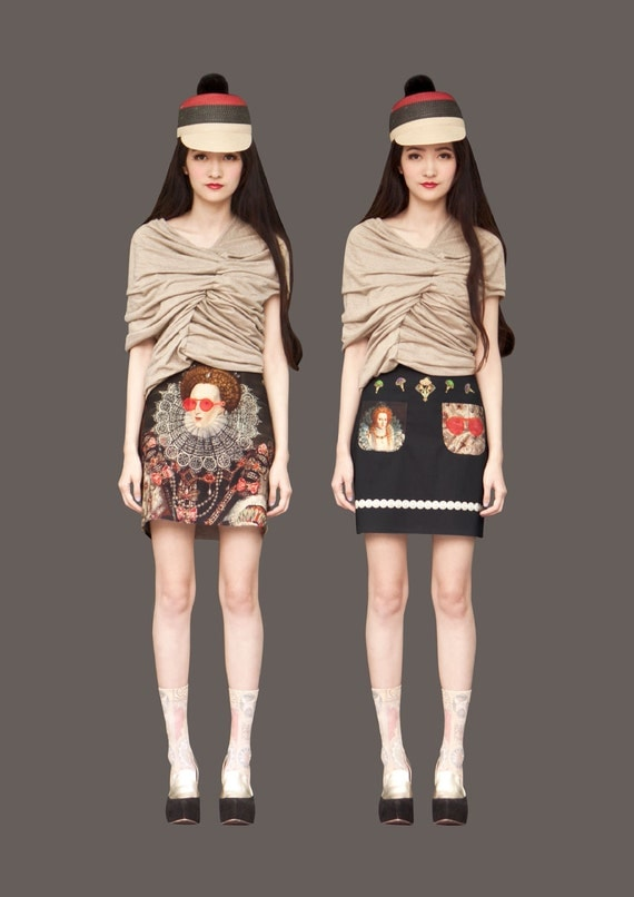 FABITORIA 2012SS digital printed skirt - 05