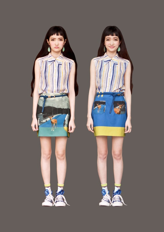 FABITORIA 2012SS digital printed skirt - 07